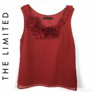 The Limited sleeveless blouse top sz M wine Red